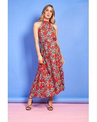 mykindofdress Rose Halterneck Maxi Dress - Multicolor
