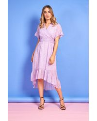 mykindofdress Ciara Lilac Print Dress - Multicolor
