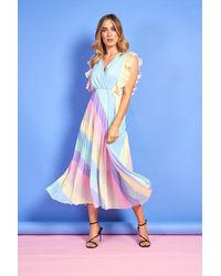 mykindofdress Jess Rainbow Maxi Dress - Blue