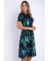 mykindofdress Amelie Sequinned Dress - Blue