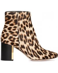 Tory Burch Pony Hair Leopard Booties - Brown