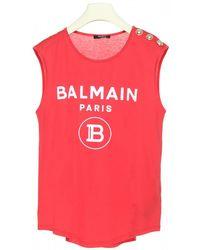 Balmain Logo Tank Top - Pink