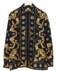 Versace Barocco Western Print Silk Shirt - Multicolor