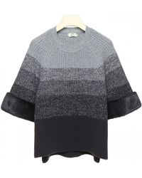 Fendi Pullover With Three-quarter Sleeves - Gray