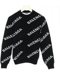Balenciaga Logo Sweater - Black