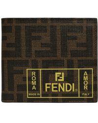Fendi Logo Printed Leather Wallet - Multicolor
