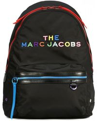 Marc Jacobs Multicolored Nylon Backpack - Black