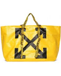 Off-White c/o Virgil Abloh - Arrows Print Tote Bag - Lyst