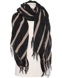 Uma Wang Striped Scarf - Black