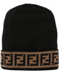 de68092fe Fendi Monster Eyes Hat in Black for Men - Lyst