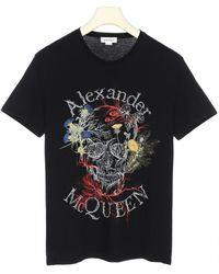 Alexander McQueen Botanical Logo Print T-shirt - Black