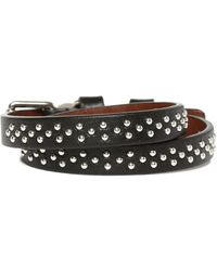 Alexander McQueen Leather Bracelet - Black