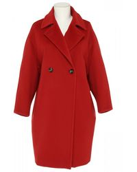 Max Mara Studio Gradi Wool Coat - Red