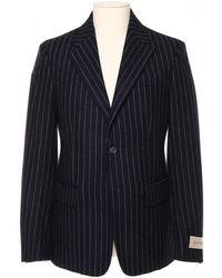 Golden Goose Deluxe Brand Pinstriped Wool Blazer - Blue