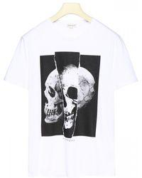 Alexander McQueen Torn Skull T-shirt - Multicolour