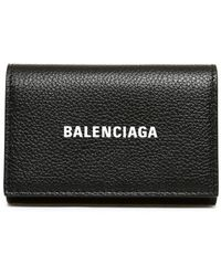 Balenciaga Grained Leather Wallet - Black