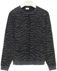 Saint Laurent Zebra Print Sweatshirt - Multicolor