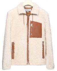 Loewe High Neck Fleece Jacket - Multicolour