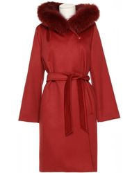 Max Mara Studio Mango Coat - Red