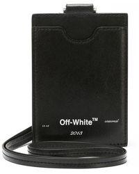 Off-White c/o Virgil Abloh Printed Logo Card Case - Black