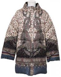 Etro Inlayed Down Jacket - Multicolour