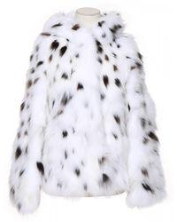 Yves Salomon Fur Coat - White