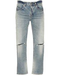 Saint Laurent Ripped Jeans - Blue