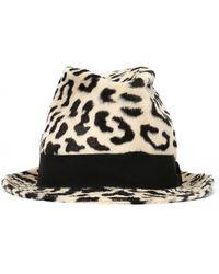 Dolce & Gabbana Leopard Print Trilby Hat - Multicolor