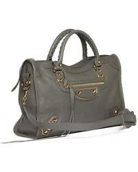Balenciaga City Leather Bag - Gray