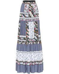 Erdem - Sigrid Cotton Patchwork Maxi Skirt - Lyst