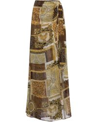 Versace Pareo Barocco Mosaic de seda - Amarillo