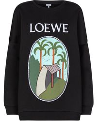 Loewe X Ken Price Printed Cotton Sweatshirt - Black