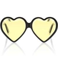 Gucci Lunettes de soleil cœur - Noir