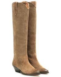 Isabel Marant Denvee Suede Boots - Multicolor