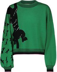 Diane von Furstenberg Dexa Stretch Wool-blend Sweater - Green
