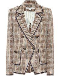 Veronica Beard Blazer Theron en tweed de coton mélangé - Marron