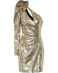 Dundas Robe asymétrique à sequins - Métallisé