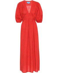 M.i.h Jeans Kleid Avery aus Baumwolle und Leinen - Rot