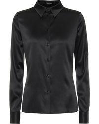 Tom Ford Hemd aus Seidensatin - Schwarz