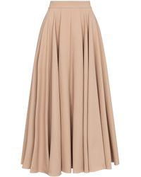 Alaïa Falda midi plisada de piqué - Neutro