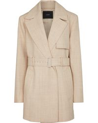 JOSEPH Chasy Belted Wool Twill Jacket - Natural
