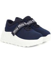 Miu Miu Plateau-Sneakers - Blau