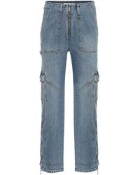 Jonathan Simkhai High-Rise Straight Jeans - Blau