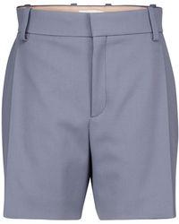 Chloé Shorts in twill di lana - Blu