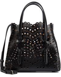 Alaïa Mina 20 Mini Leather Tote - Black