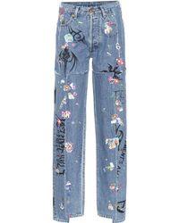 Vetements X Levi's® High-rise Wide-leg Jeans - Blue