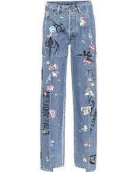 Vetements X Levi's® – Jean ample imprimé - Bleu