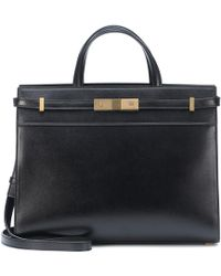 Saint Laurent Manhattan Small Shopping Bag Smooth Leather Black