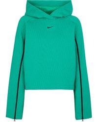 Nike Sudadera de frisa con capucha - Verde
