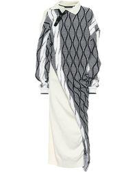 Y. Project Wool-blend Knit Midi Dress - Black